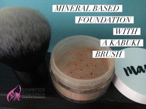 mineral based foundation with a kabuki brush