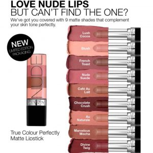 Avon Nude Makeup Collection Latest Shades Matte Lipstick Foundations