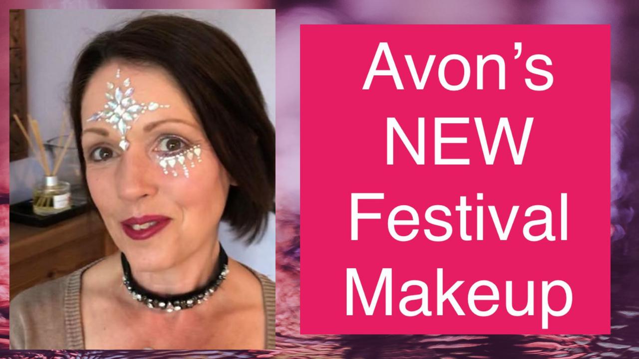 video of me demonstrating festival makeup